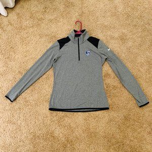 Nike Golf M Women's Creighton Gray Quarter Zip-Up